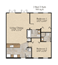 2 Bedroom, 2 Bath Flat