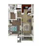 1 Bed Flat - Large