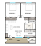 Two Bedroom, One Bath with W/D Connection