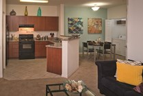 Spacious 3 bedroom common areas are perfect for relaxing with roommates.