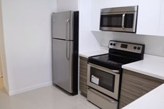 Upgraded apartments include a stainless steel appliance package for a sleek finish!