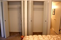 2 Closets in Each Bedroom