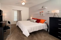 Your private bedroom is the perfect place to study, all furniture packages include a desk and chair.