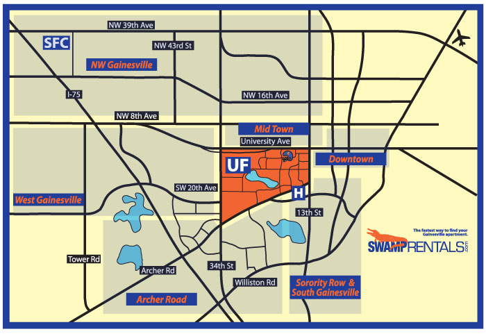 gainesville fl apartment rentals map